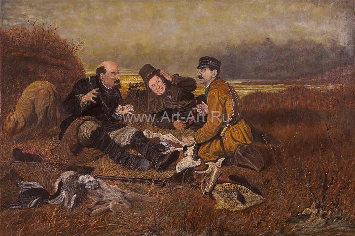 картина охотники на привале